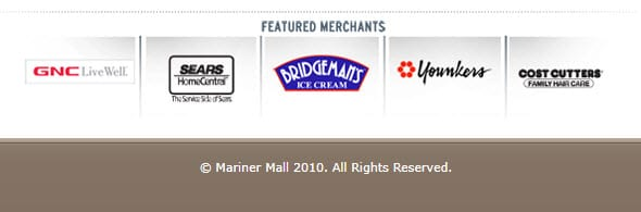 Mariner Retail & Business Center website footer