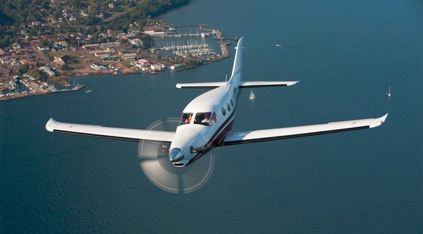 Kestrel Jet Over Lake Superior