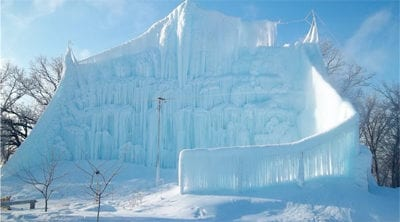 Roger Hanson Ice Wall in Big Lake, Minnesota