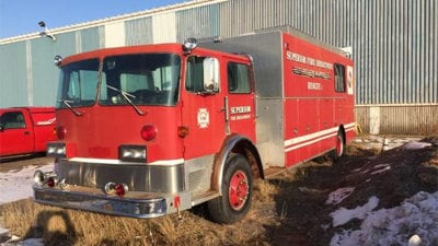 Superior Fire Truck Sold at Auction for $1200