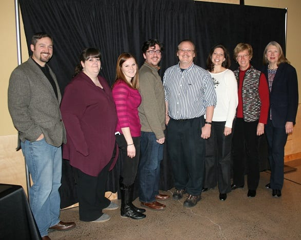 Several members of the music department were on hand to receive their Spirit of Superior Award.