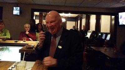Superior Mayor Bruce Hagen Celebrating Victory After Primary Election