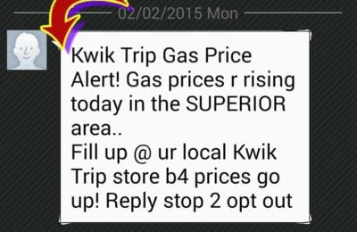 Kwik Trip Warns Superior of Increasing Gas Prices