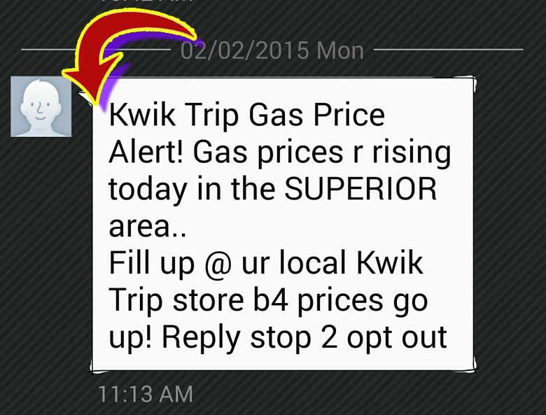 Kwik Trip Warns Superior of Increasing Gas Prices