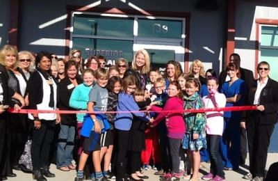 The ribbon cutting ceremony at the Humane Society of Douglas County included 3rd, 4th, and 5th grade students from LSE | Explore Superior©