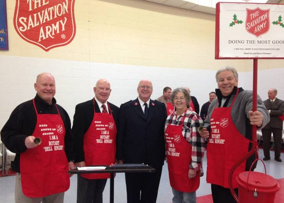 Salvation Army Bell Ringing Rotarians | Explore Superior
