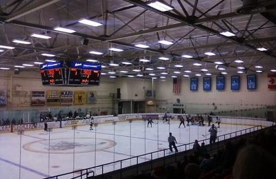 The Men's Ice Hockey Team Playing Their First Home Game of the Season. Photo by Felicity Bosk   Explore Superior
