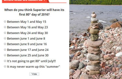 Take our warm weather poll | Explore Superior