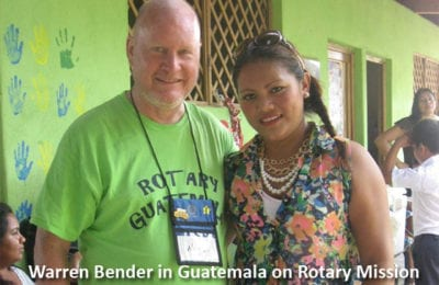 Warren Bender in Guatemala on Rotary Mission