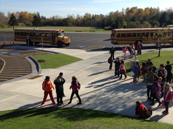 Lake Superior Elementary School parking lot nearing completion 10/13/16 | School District of Superior | Explore Superior