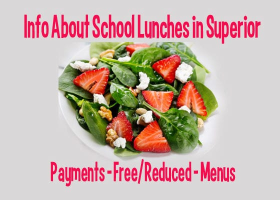 Learn more about the School District of Superior Lunch Program and Free or Reduced meals
