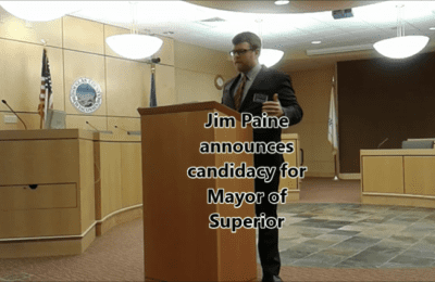 Jim Paine announces candidacy for mayor of Superior | November 23, 2016 | Explore Superior