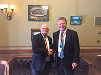 Senator Dan Feyen (R, Fond du Lac) with Better City Superior head Bruce Thompson during Superior Days.